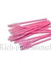 Щеточка для ресниц Rich розовая,розовая ручка